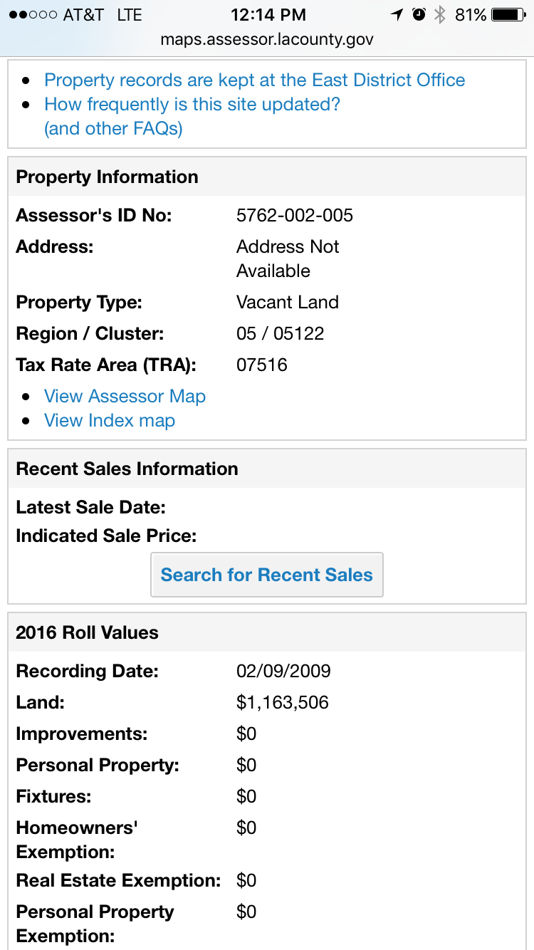 Acres In Los Angeles Sierra Madre CA Bitcoin Real Estate - Los angeles assessor map
