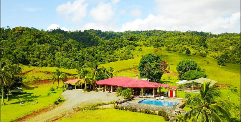 Costa Rica Ocean View Ranch Estate – 350 acres of amazing beauty – 3 Houses – 30 Stables and Riding Arena