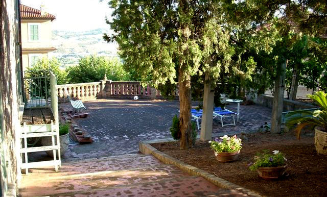 Italy Villa back yard view on BitCoin-RealEstate