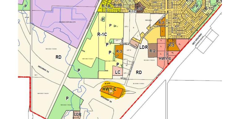 6.16 acres Zoning Map