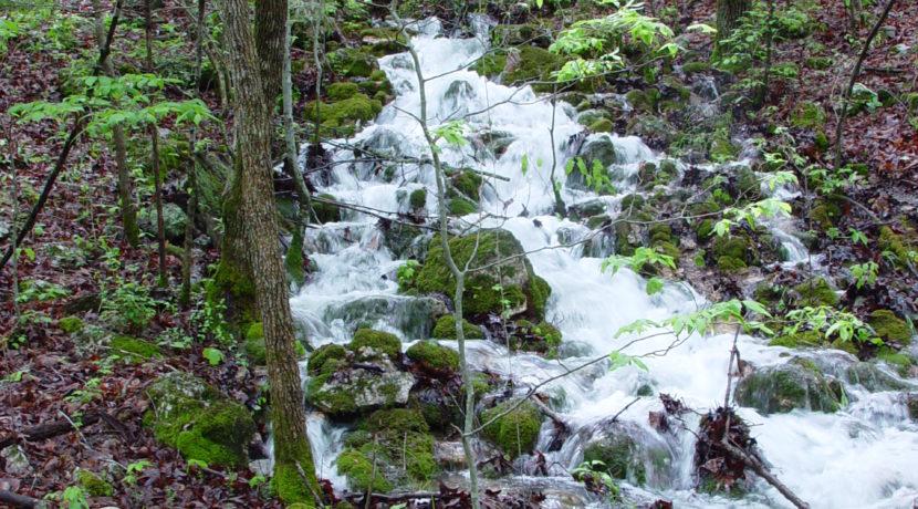 Gushing spring & waterfall