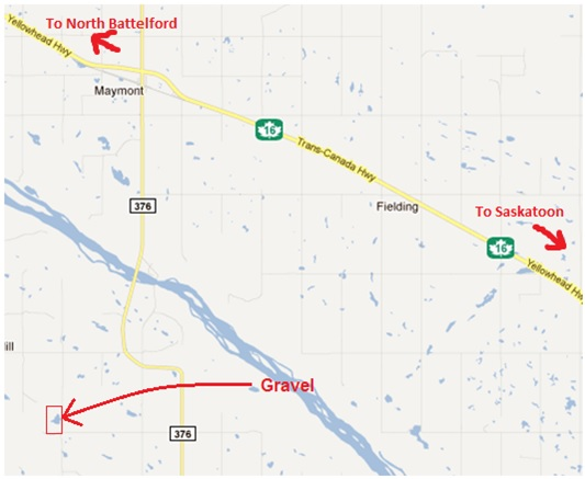 Map showing Yellowhead