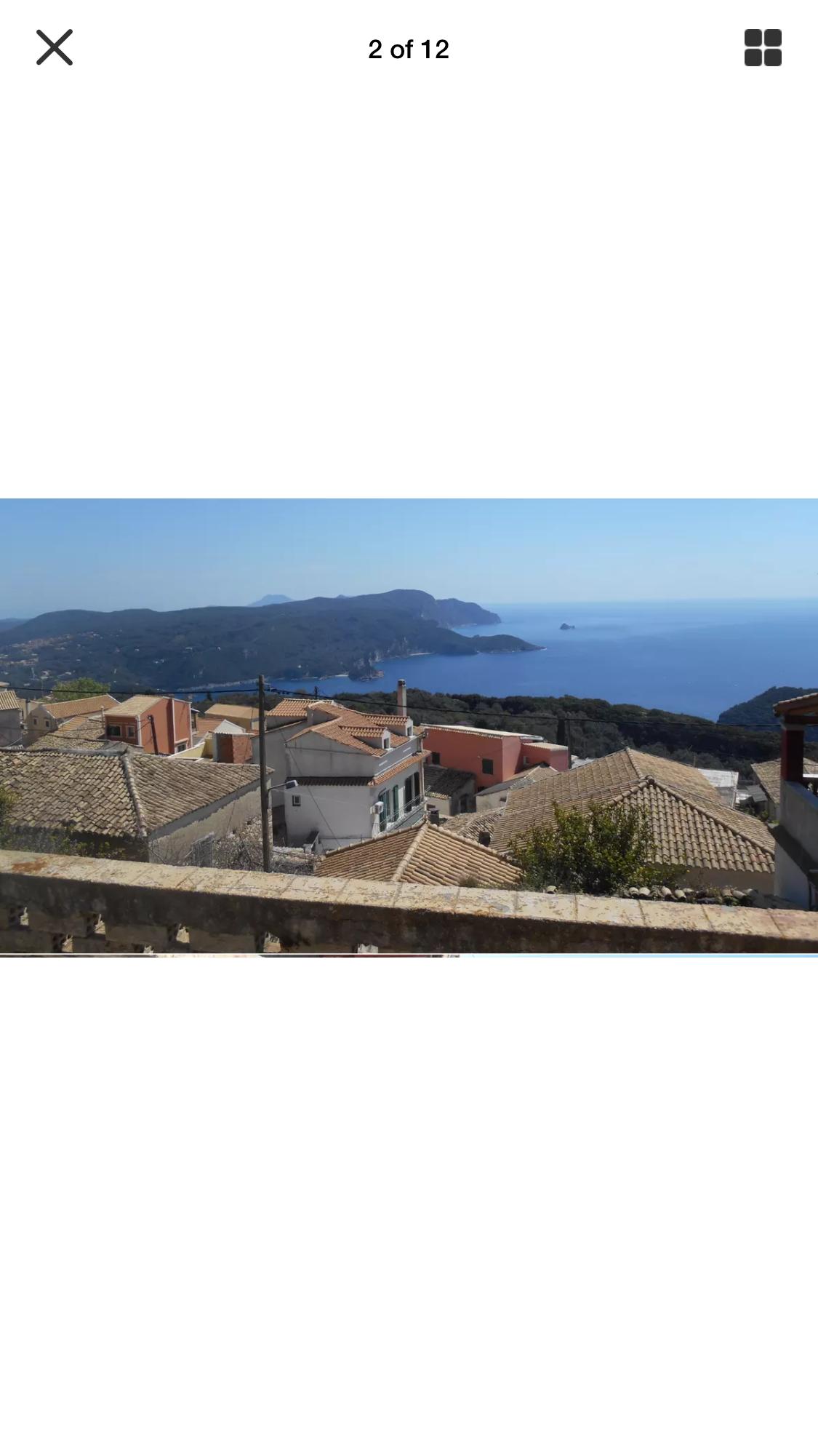 Breathtaking ocean views stone house in Lakones – Corfu island-Greece