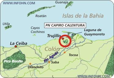nacional_capiro_calentura_honduras_map