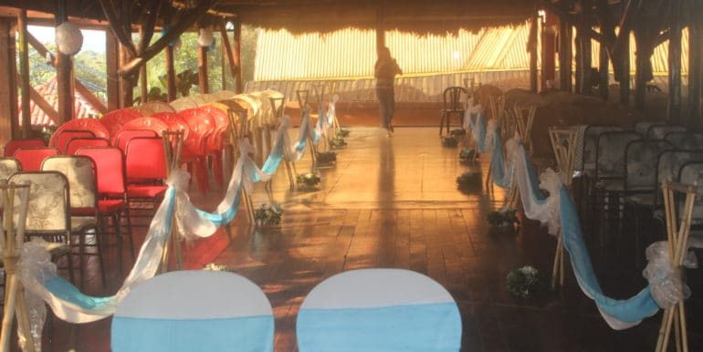 Upstairs dinning and dance hall, used for weddings