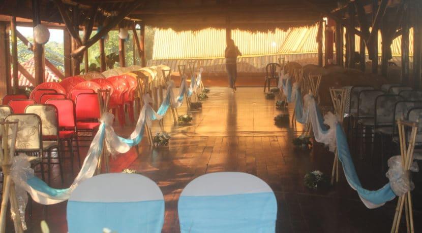 Upstairs dinning and dance hall, used for weddings