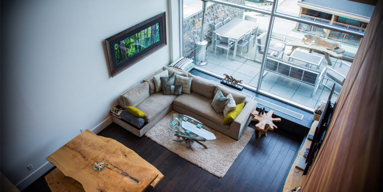 Livingroom View from Loft