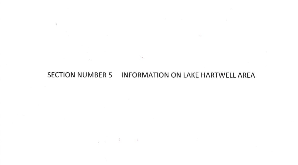 RM19 - SECTION NUMBER 5  INFORMATION ON LAKE HARTWELL AREA - Page 19