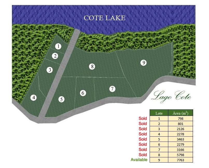 Cote Lake lots map