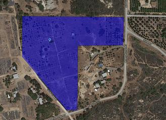 Valley Center - 10 acres Site Boundaryw